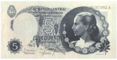 BILLETE DE EVA PERON